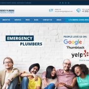 Создание сайта визитки для американской компании сантехников